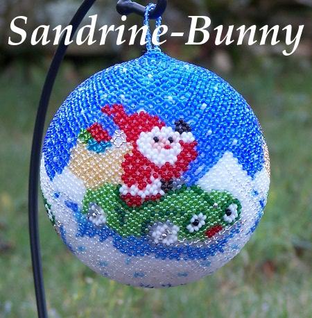 Sandrine bunny les boules de noel for Decoration boule de noel en polystyrene
